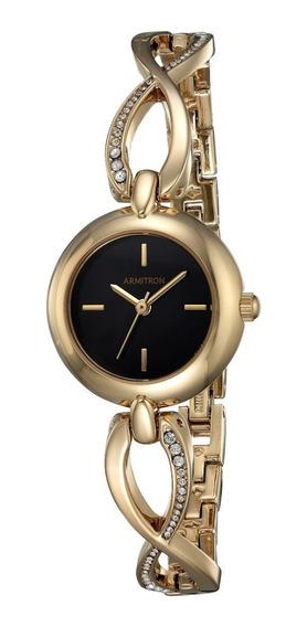 Armitron Mujer 75/5495bkgp Reloj Swarovski Dorado 24mm