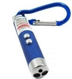 Mini Chaveiros C/ Laser Pointer Lanterna Led- Kit 6 Unidades