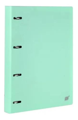 Fichário Caderno Argolado A4 Verde Tom Pastel Yes +96 Folhas