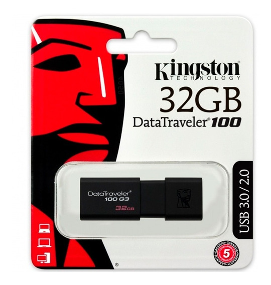 Memoria Usb 32gb Kingston Dt100 Usb 3.0 Nueva Dt100g3/32gb