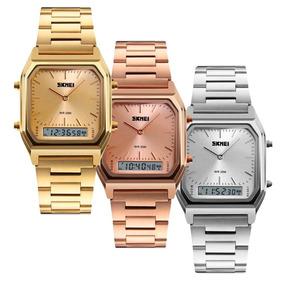 Relógio Skmei 1220 Retro Lançamento Luxo Feminino Masculino