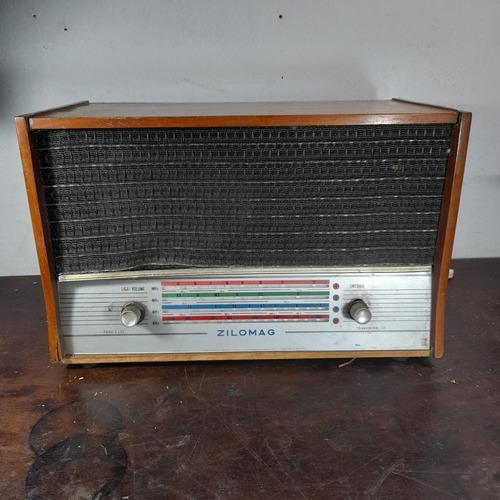 Imagem 1 de 9 de Rádio Zilomag Antigo Madeira Decorativo. No Estado.