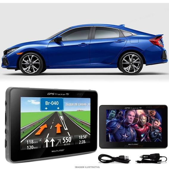 Navegador Gps Automotivo Civic New Tela 4.3 Touch Voz Oferta