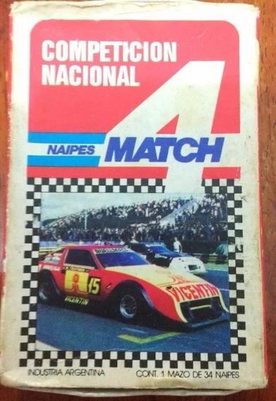 Naipes 4 Match Jogo Cartas Carros Corrida Antigo Importa