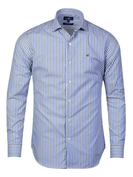 Camisa Hombre Algodón Premium Elegante Slim Fit Brooksfield