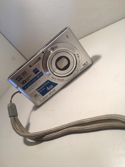 Cybershot Sony Dsc W320 Prata + Case Preto Do Mickey