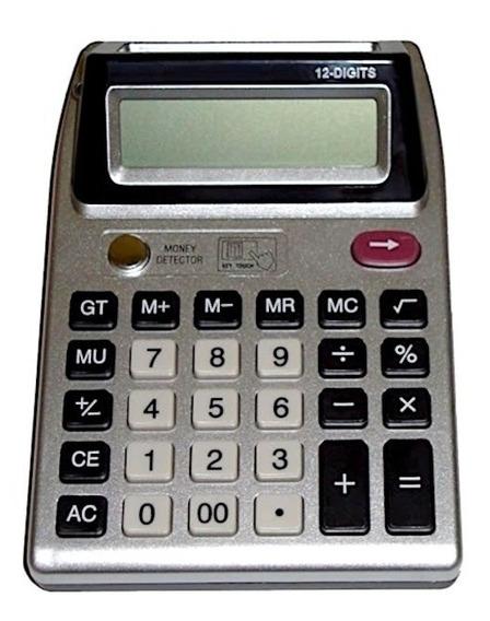 Calculadora Duplo Visor + Luz Uv ( Testa Dinheiro Falso )