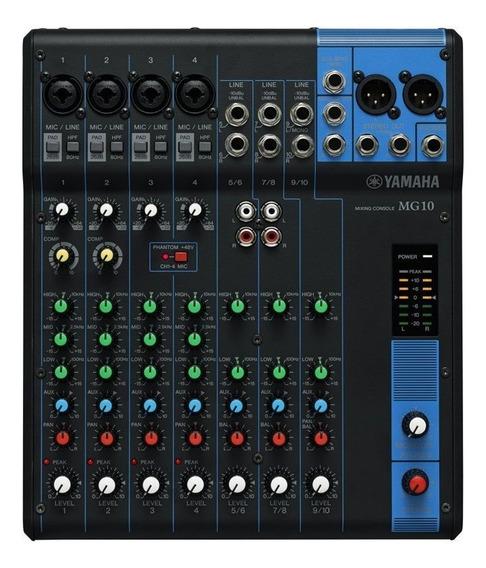 Mesa De Som Yamaha Mg10 Analógica 110v Com 10 Canais