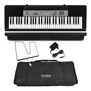 Kit Teclado Digital Arranjador 61 Ctk-1550 Casio Com Capa