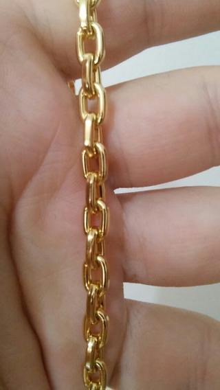 Cordão E Pulseira Banhado A Ouro 18 K Com Garantia