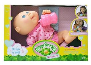 Cabbage Patch Kids, Drink N .wet Recien Nacido Baby Doll - B