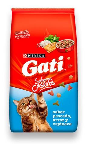 Comida Gato Gati 15k Pescado + 3 Pate