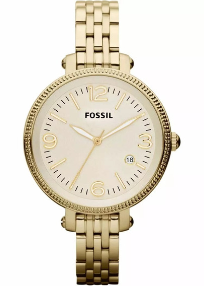 Relógio Feminino Fossil Es3181 Dourado Original Nf