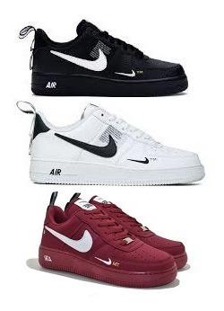 Tênis Nike Air Force Tm One Original Promoção Kit 3 Pares