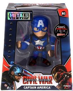 Metals Die Cast Muñeco De Metal Captain America Jada Devoto