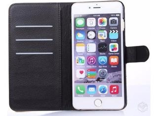 Capa Flip Carteira + Pelicula De Vidro iPhone 6 Plus 6s Plus