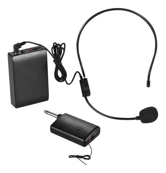 Fm Portátil Sistema De Fone De Ouvido Com Microfone Sem Fio