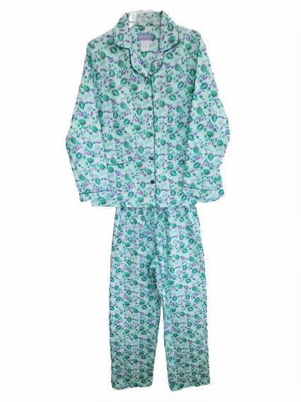 Pijama Dama Franela 100% Algodon Super Comoda Y Calientita