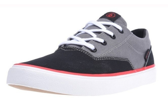 Zapatillas Volcom Draw Lo Black Grey Negro-gris Bkg