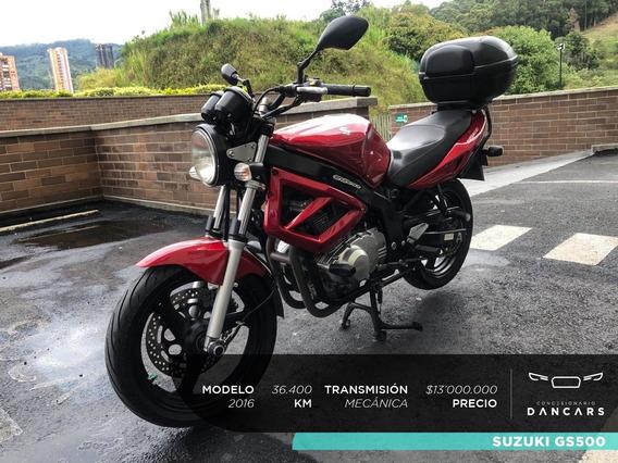 Suzuki Gs 500 Modelo 2016 Con 36.400km Segundo Dueño