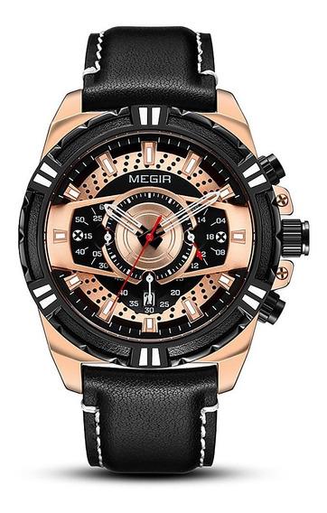 Megir 2118 Relógio De Quartzo Luxo Display Luminoso Esportes