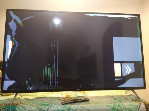 Imagem 1 de 6 de Tv 50 Polegadas Aoc Led Smart 4k  Leia O Anuncio