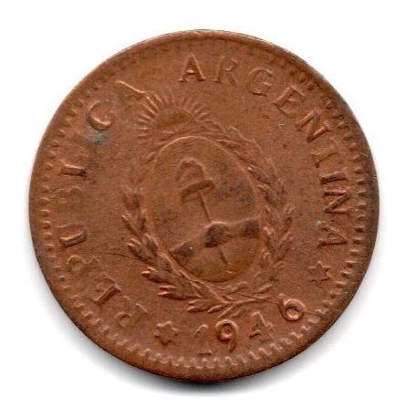 Moneda Argentina 1 Centavo Año 1946 Cobre Puro Sc-