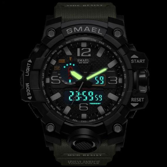 Relógio Militar Smael - Analógico E Digital