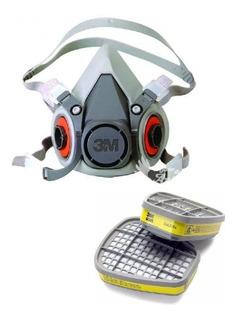 Respirador Semifacial 3m 6200 + Cartucho 3m 6003
