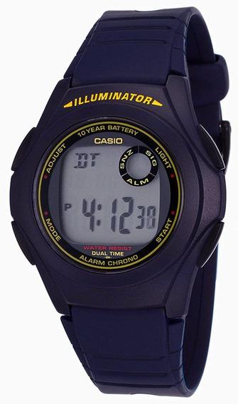 Relógio Casio 10-year Battery Digital Blue F200w-2