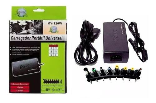 Fonte Carregador Notebook C/adaptador Universal 8 Conectores