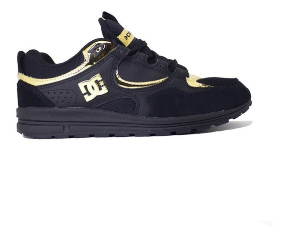 Tênis Dc Shoes Kalis Lite Imp Black Gold Adjs100081201