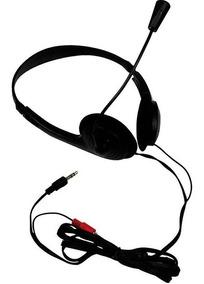 Fones De Ouvido C/microfone Headphone Stereo Plug P2 Flex