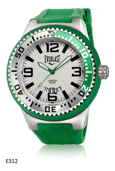 Relógio Pulso Everlast Masculino Verde Silicone E312