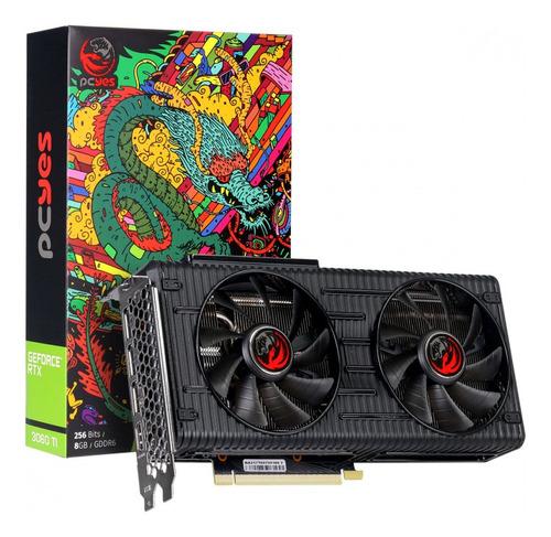 Imagem 1 de 9 de Placa De Video Nvidia Geforce Gpu Rtx 3060 Ti 8gb Gddr6 256