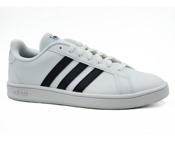 adidas Grand Court K Blanco/negro-tallas 22-29/ 100%original