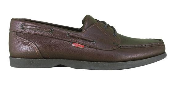 Zapatos Náuticos Cuero Cordon Pizzoni 6028 Hombre Lujandro