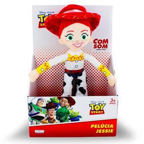 Boneco Pelucia 30cm Som Jessie Toy Story Disney Multikids
