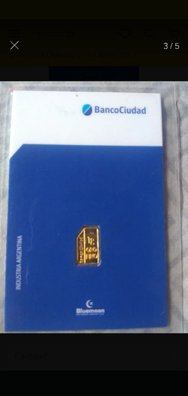 Lingote De Oro Banco Ciudad 1 Gramo 24 Kilates.