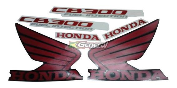 Kit Adesivo Jogo Faixas Moto Honda Cb 300r 2011 Preta