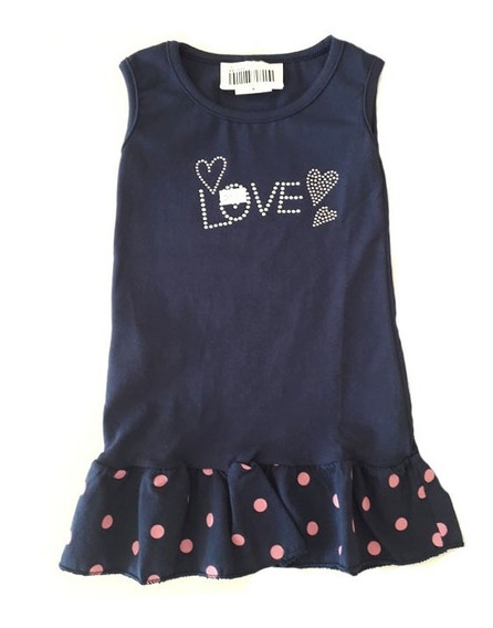 Vestido Feminino Infantil Criança - 015368 015067 015064