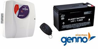 Kit Alarme Residencial / Comercial Genno Central E Bateria