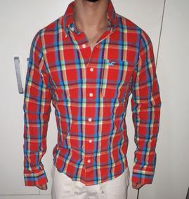 Camisa Xadrez Hollister Masculina Tamanho M Manga Longa