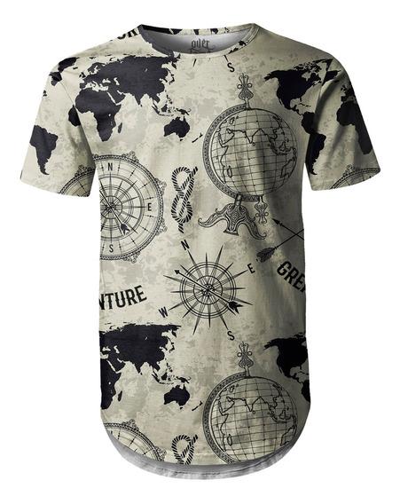 Camiseta Masculina Longline Swag Expansão Marítima