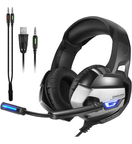 Auriculares Onikuma K5 Headset Gamer Stereo Microfono Led