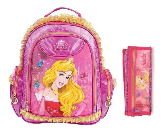 Kit Mochila De Costas Princesa Disney Bela Media M Original
