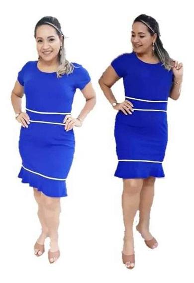 Vestido Moda Evangélica Tubinho Roupas Femininas