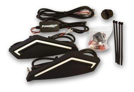 Powermadd 34290 Kit De Luz Led Negra Para Guardamanos Serie