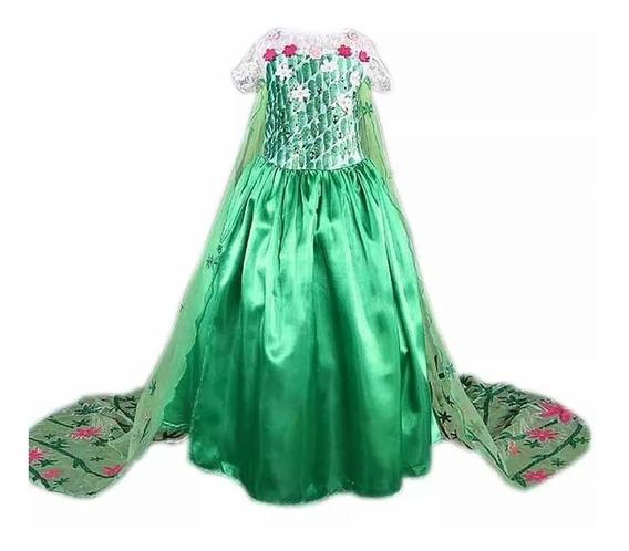 Vestido Fantasia Infantil Frozen Elsa Fever