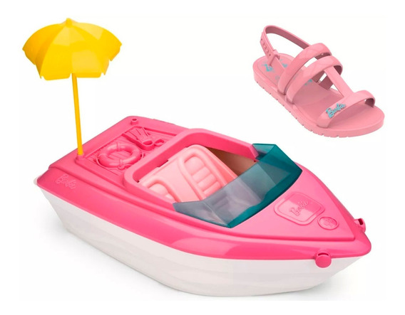 Sandália Barbie Iate Grendene Infantil Rosa - 22002